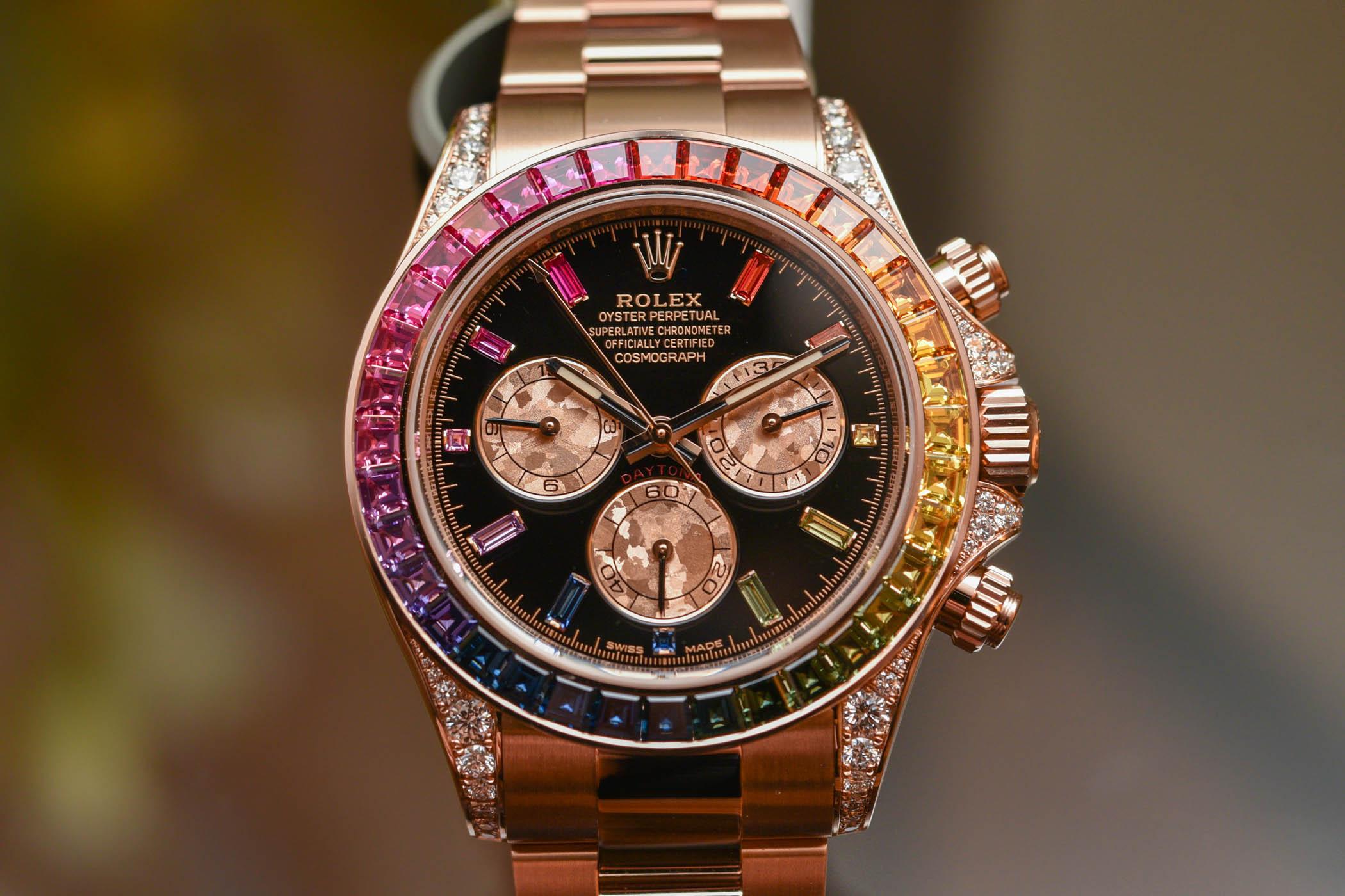 ロレックスのレインボーの時計がすごいw